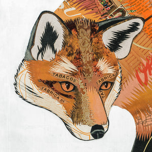 thumbnail for Small Works Event - Fox and Fern Original Paper Collage