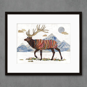 thumbnail for Elk in Alpine Tundra Art Print