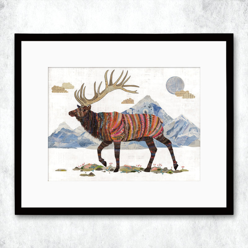 main image for WHSL - Elk, King of the Continental Divide Art Print
