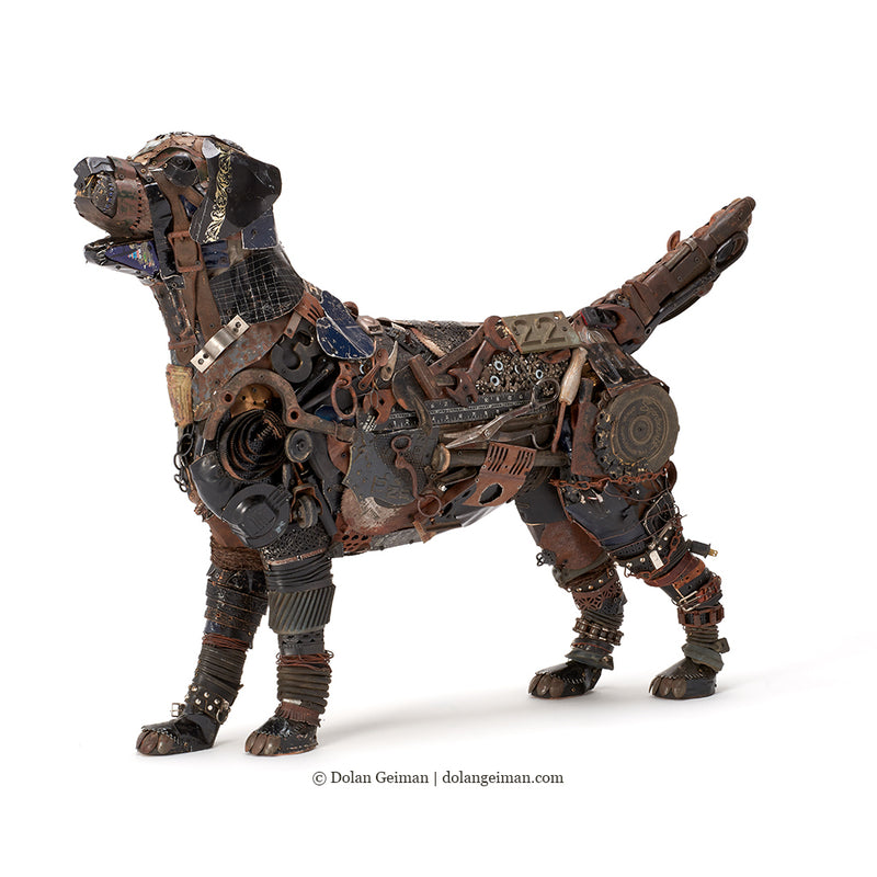 main image for Black Lab Mixed Media Sculpture