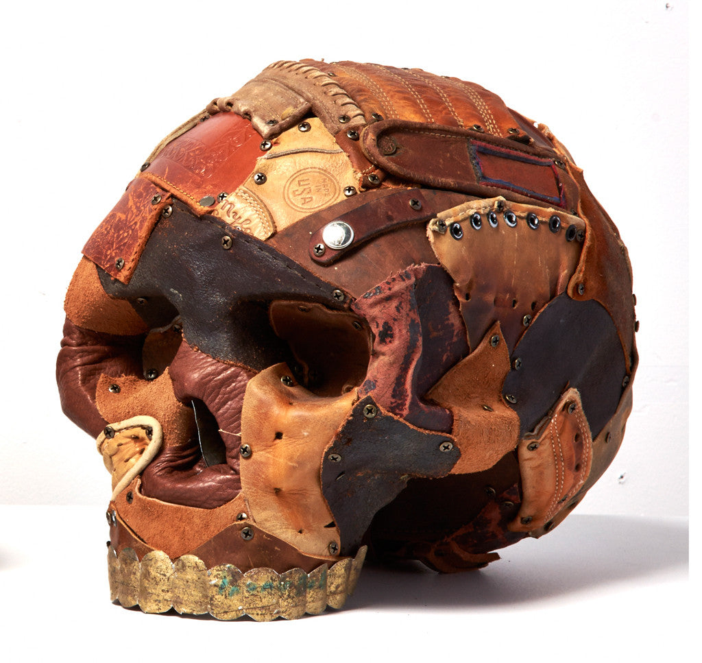Early Man Part II Leather Skull Sculptures