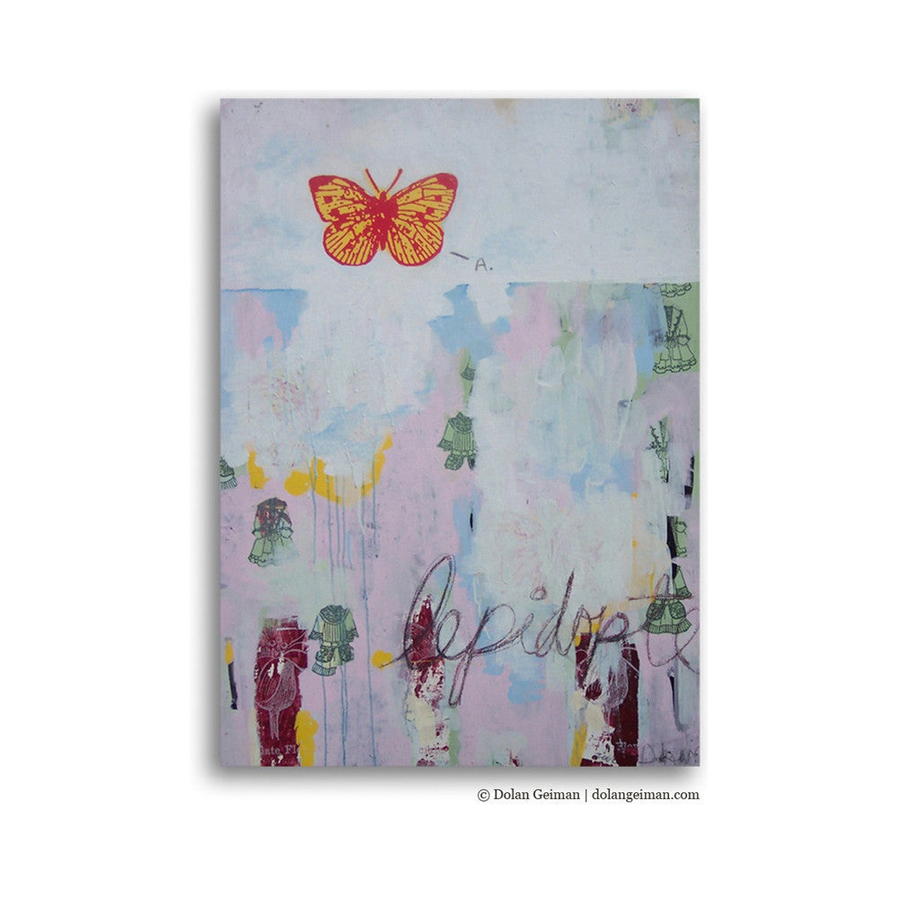 Lepidoptera Mixed Media Butterfly Art
