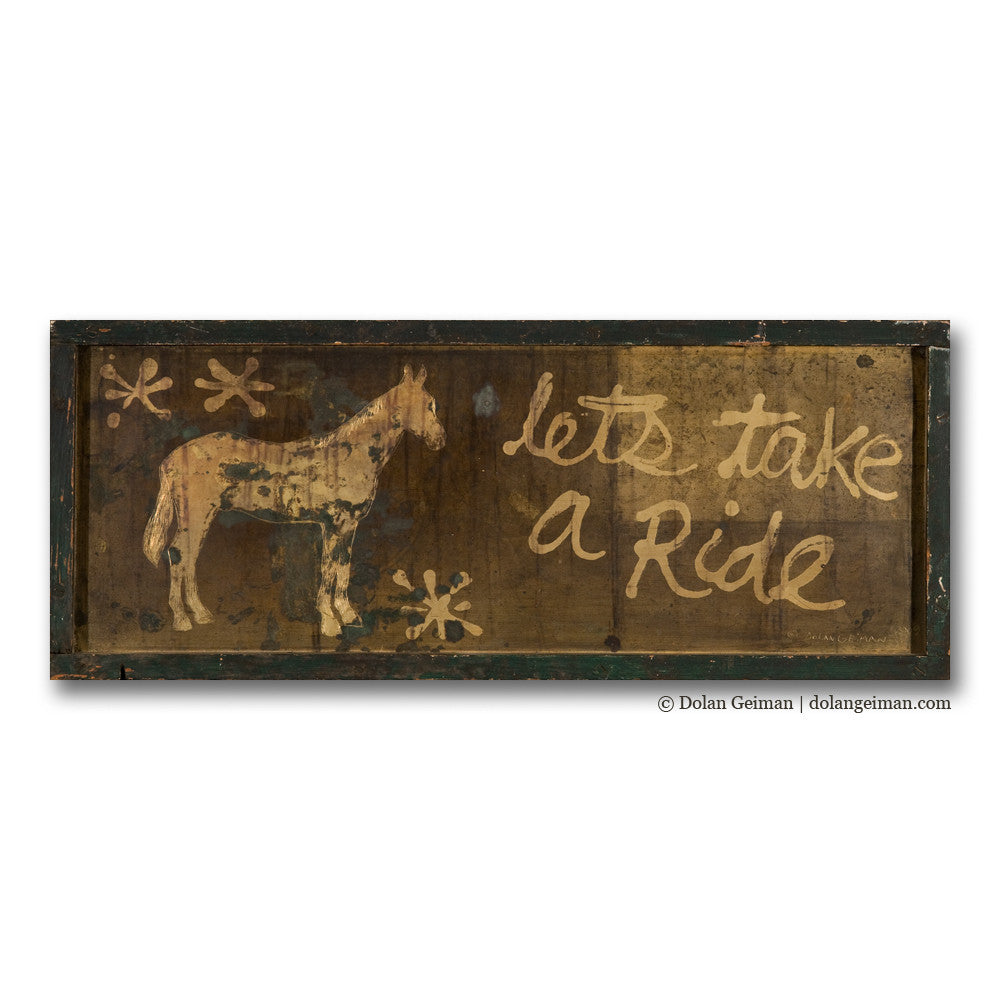 Let's Take a Ride Brass Horse Art