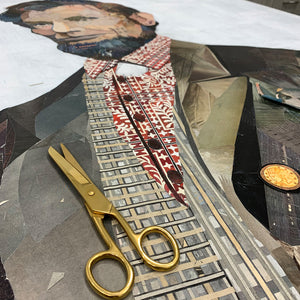 thumbnail for Custom Abe Lincoln Paper Collage with Penny Frame