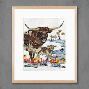 thumbnail for Longhorn with Calf Limited Edition Print
