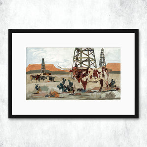thumbnail for WHSL - Longhorn, Mesa King Art Print