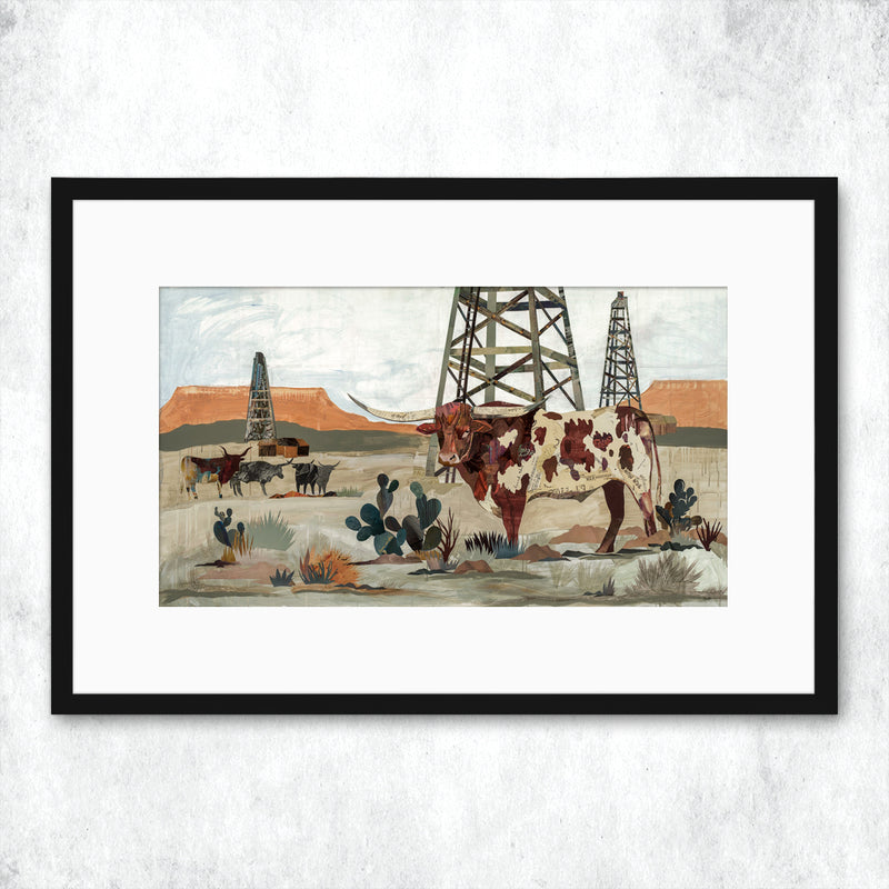 main image for WHSL - Longhorn, Mesa King Art Print