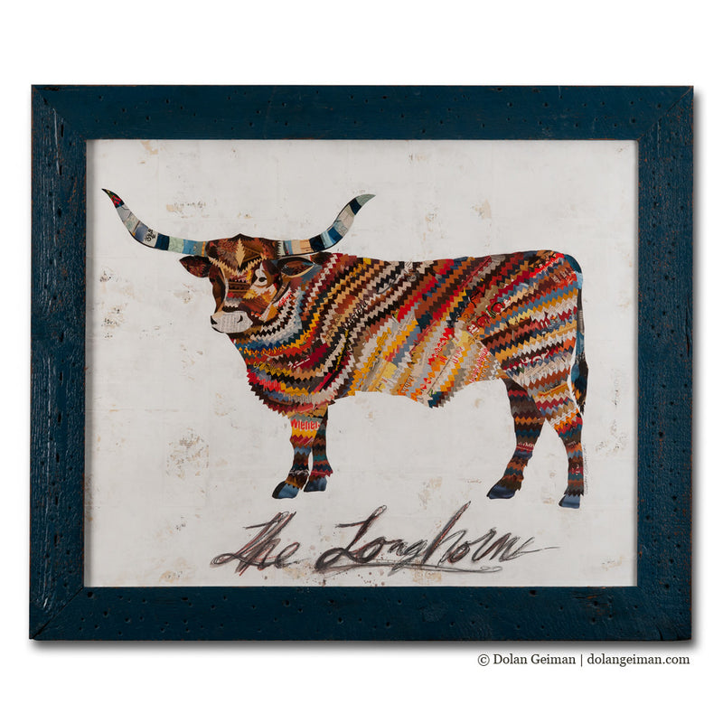 main image for The Longhorn Paper Collage Art