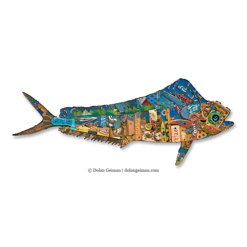 main image for Mahi Mahi Fish Original Metal Wall Sculpture