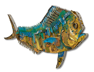 thumbnail for Mahi Mahi Fish Original Metal Wall Sculpture