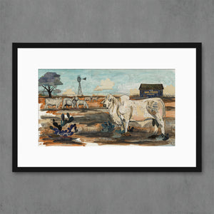 thumbnail for Mail Pouch Brahman Art Print
