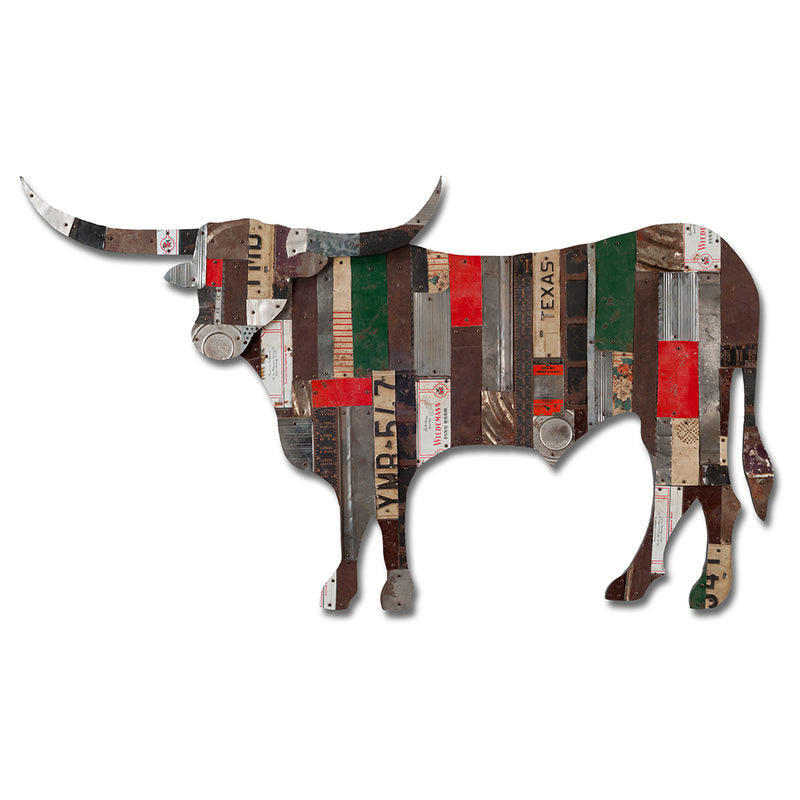 main image for On The Ranch (Longhorn) Metal Wall Sculpture