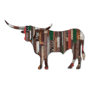 thumbnail for On The Ranch (Longhorn) Metal Wall Sculpture
