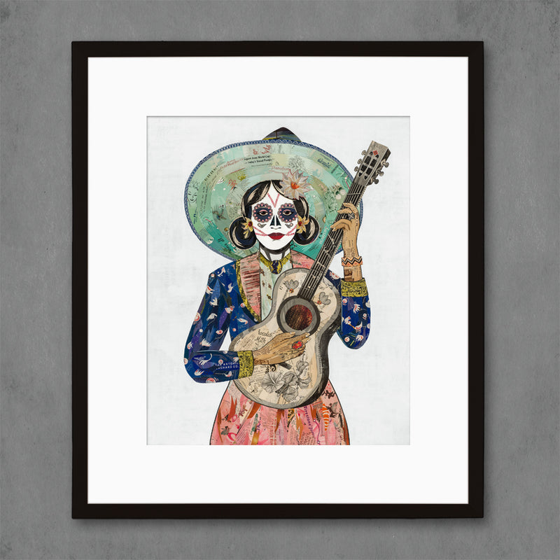 main image for Midnight Song Guitarist Art Print