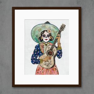 thumbnail for Midnight Song Guitarist Art Print