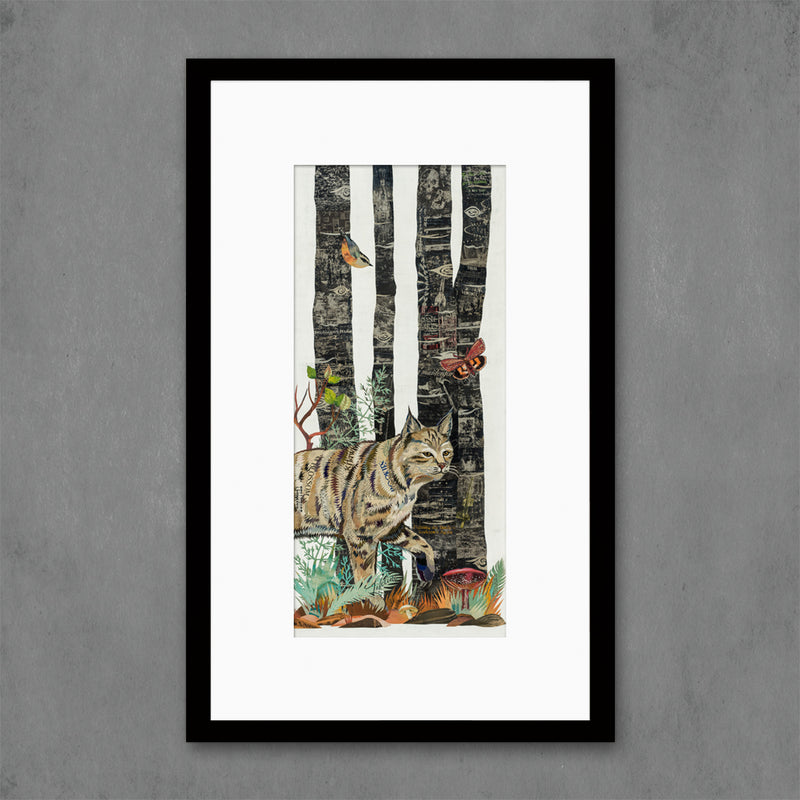 main image for Midnight Forest Bobcat Art Print