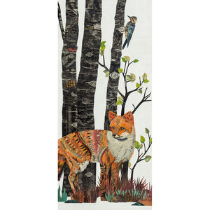 thumbnail for WHSL - Midnight Forest Diptych (Fox) Art Print