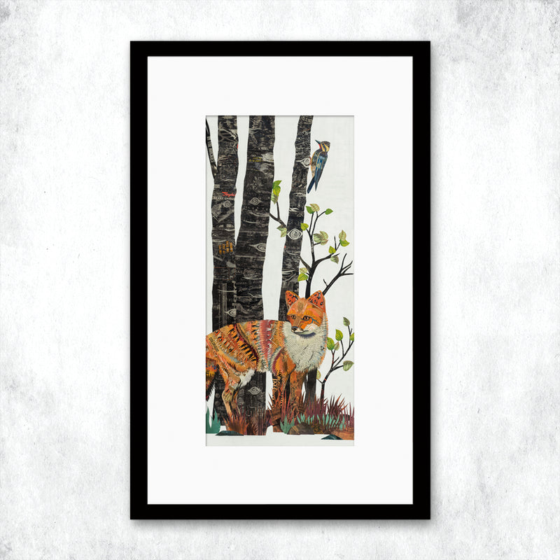main image for WHSL - Midnight Forest Diptych (Fox) Art Print