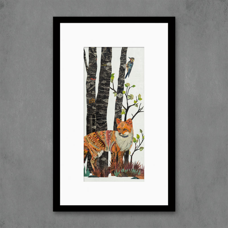main image for Midnight Forest Fox Art Print