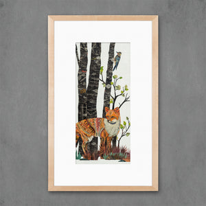 thumbnail for Midnight Forest Fox Art Print