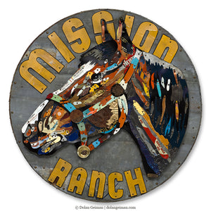 thumbnail for Mission Ranch Circular Horse Wall Sculpture