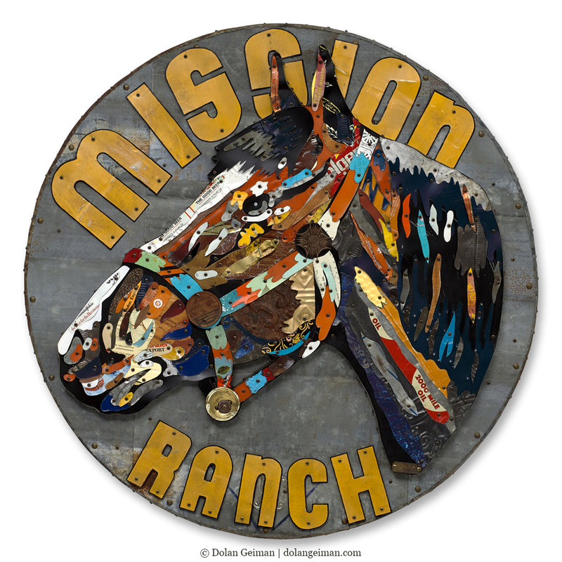 main image for Mission Ranch Circular Horse Wall Sculpture