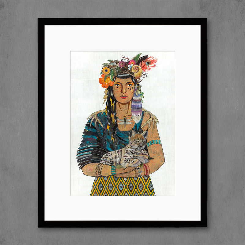 main image for Mother Nature with Lynx Art Print