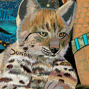 thumbnail for Mother Nature with Lynx Original Paper Collage