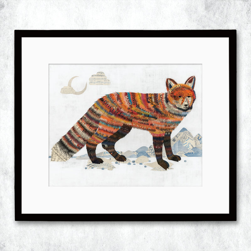 main image for WHSL - Salt Flats Fox Art Print