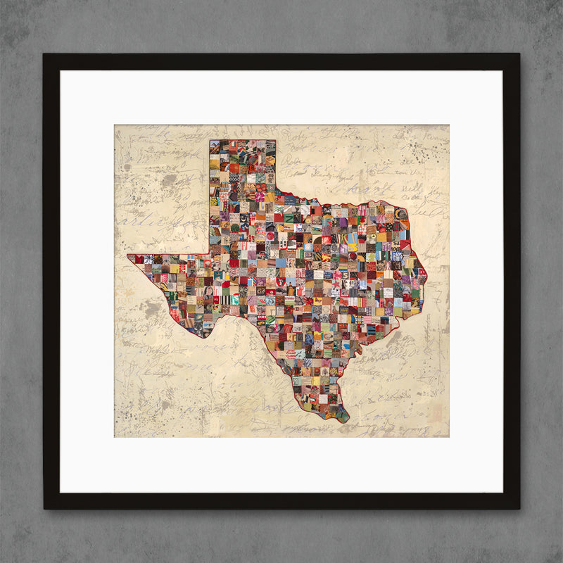 main image for My Texas Map Collage Art Print