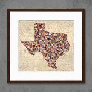 thumbnail for My Texas Map Collage Art Print