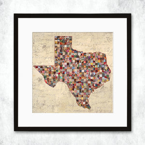 thumbnail for WHSL - My Texas Map Art Print