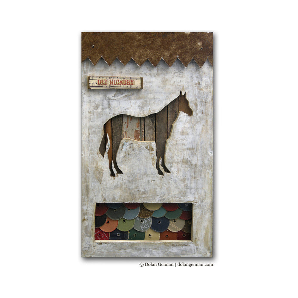 Old Hickory Mixed Media Horse Art