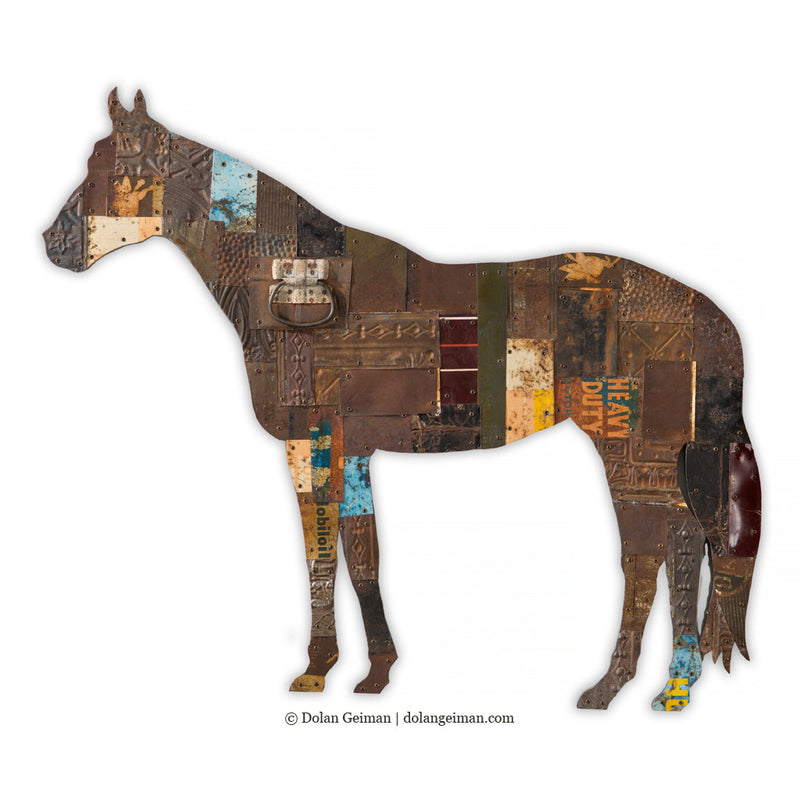 main image for On the Ranch (Horse) Metal Wall Sculpture