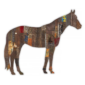 thumbnail for On the Ranch (Horse) Metal Wall Sculpture