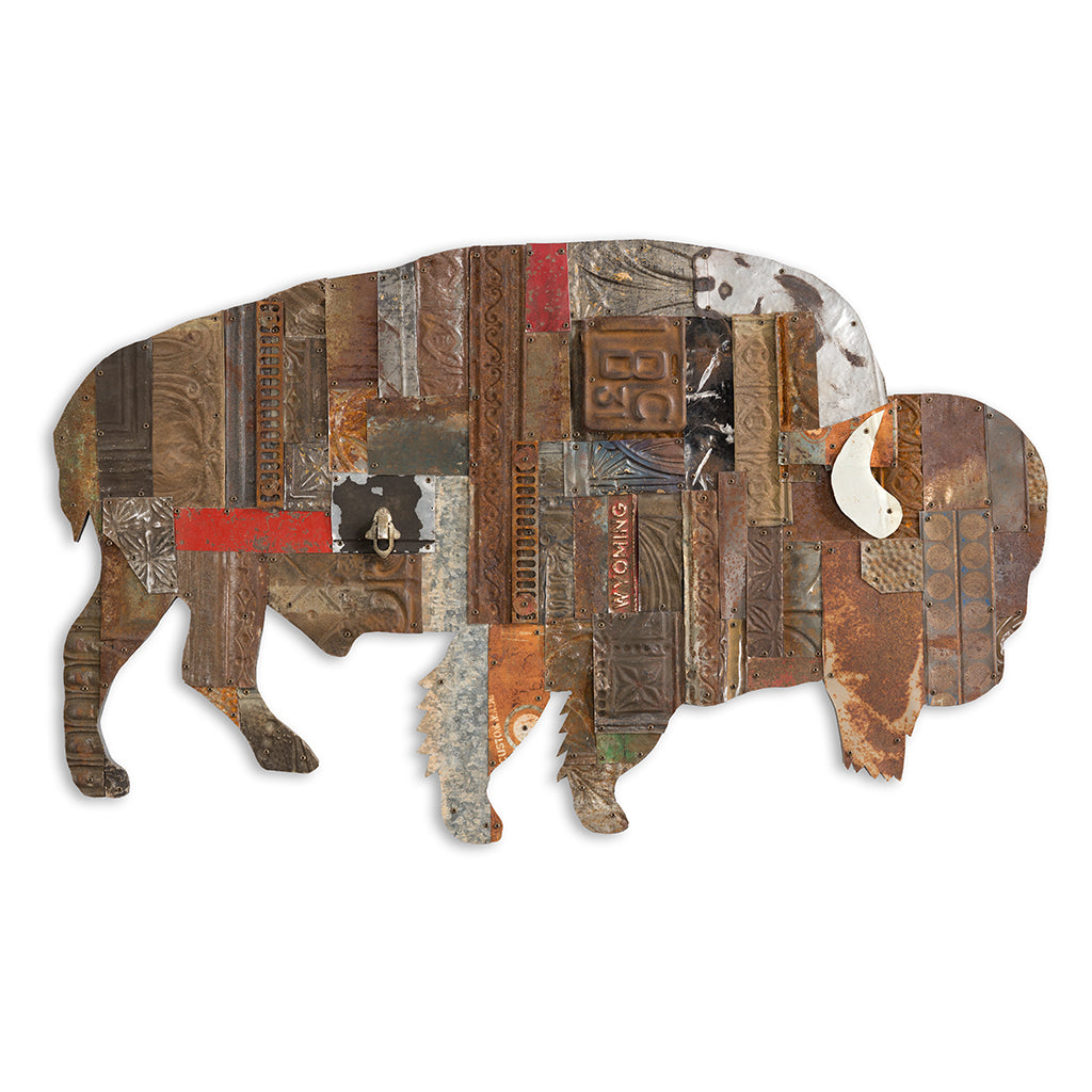 On the Range Bison/Buffalo Metal Wall Sculpture