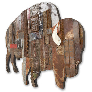 thumbnail for On the Range Bison/Buffalo Metal Wall Sculpture