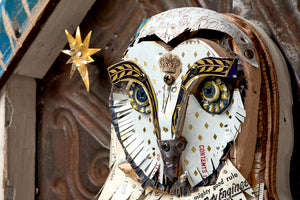thumbnail for Owl in Shrine Original Mixed Media Assemblage