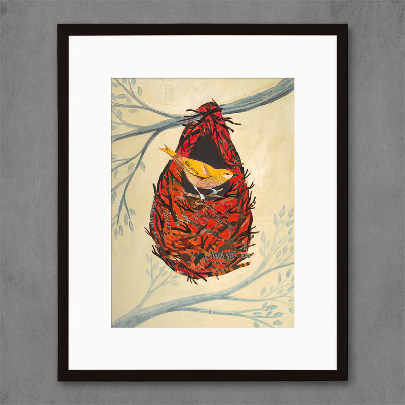 main image for Oriole in Nest Bird Art Print