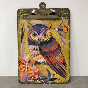 thumbnail for Small Works Event - Owl Painting on Clipboard - Original by Dolan Geiman