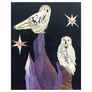 thumbnail for Small Works Event - Owls in Starry Night - Original by Dolan Geiman