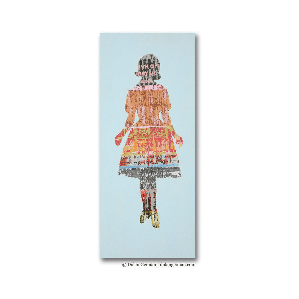 Paper Doll Collection Colorful Screenprint