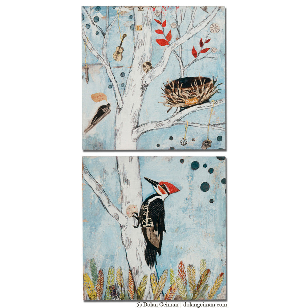 Peppertree Park Bird Art Diptych