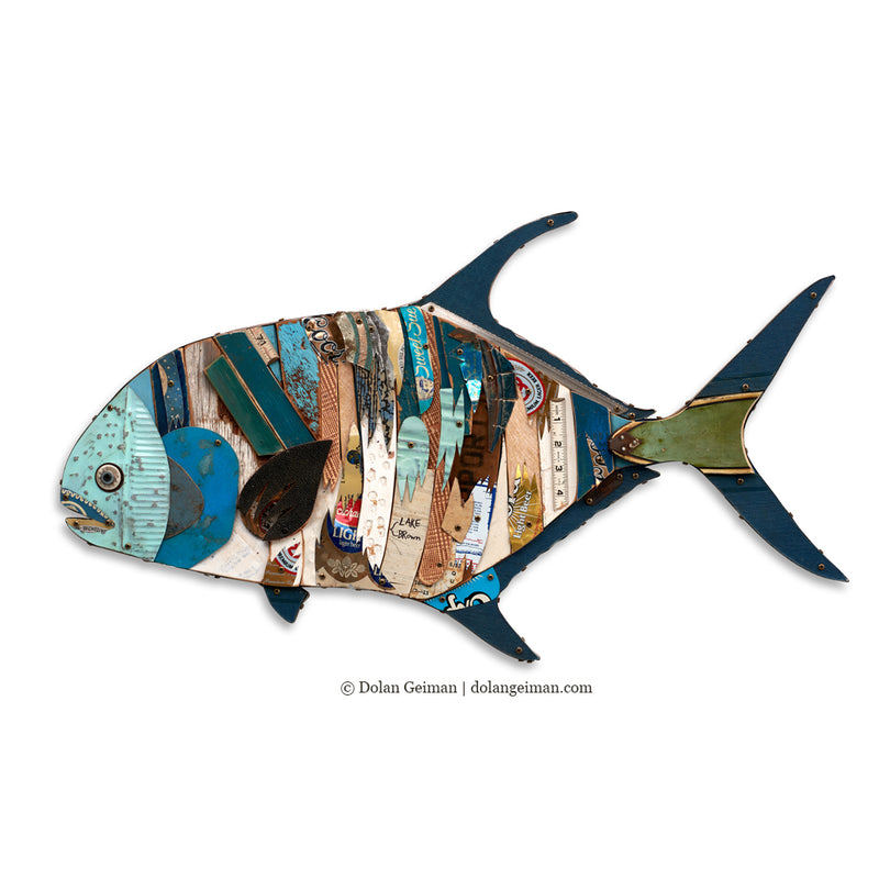 main image for Permit Fish Original Metal Wall Sculpture