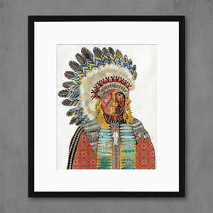 thumbnail for Poet of the Plains Native American Art Print