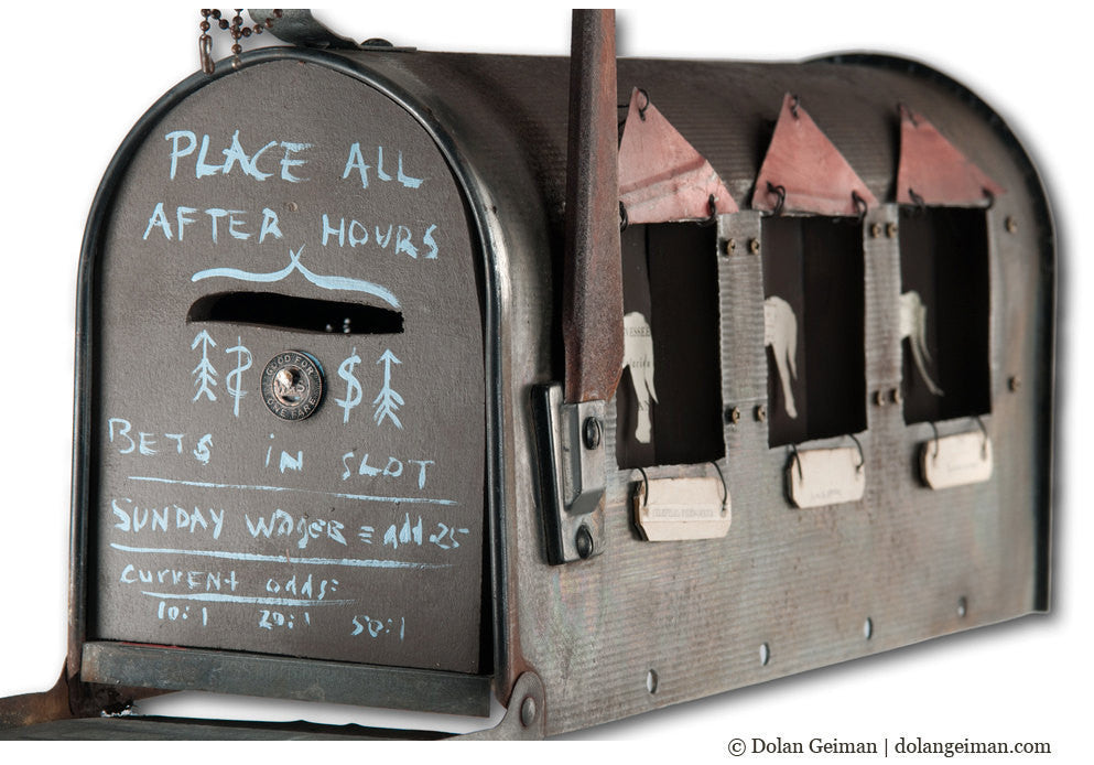 Pony Express Upcycled Mailbox Art
