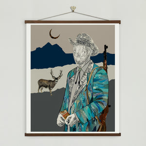 thumbnail for The Quilted Wrangler Hunter Art Print