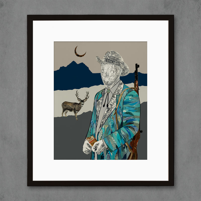 main image for The Quilted Wrangler Hunter Art Print