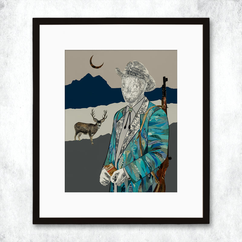 main image for WHSL - Quilted Wrangler Hunter Art Print
