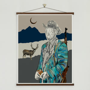 thumbnail for WHSL - Quilted Wrangler Hunter Art Print